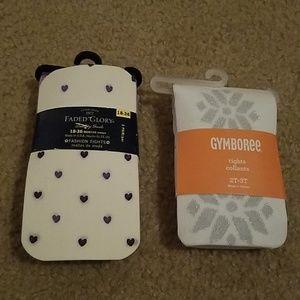 2 pairs brand new girls tights